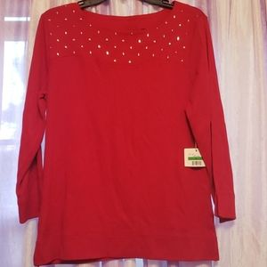 Red Rafaella Sweater